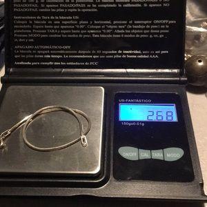 "Jewelry - Solid sterlling somber bracelet 7"""